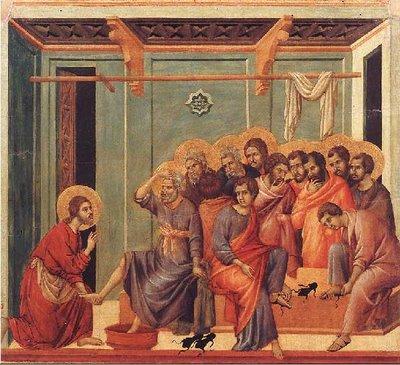Jezus wast de voeten van Zijn apostelen